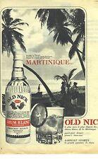 PUBLICITE ADVERTISING 1964   OLD NICK rhum blanc alcool