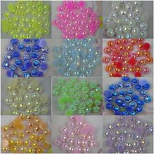 SS12 Cone round jelly AB Crystal resin 3mm silver Flat Back Rhinestones use glue
