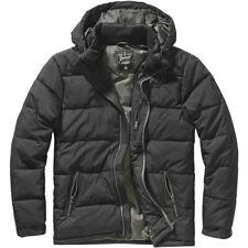 Brandit Beaver Creek Outdoor Jacket Warm Mens Hooded Travel Hiking Coat Black