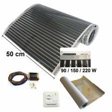 Infrarotheizfolien-Set Flächenheizung 50cm 90-150-220W/m² Regler+Schutzschirmung