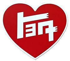 """TEQ 4"""" HEART DECAL - CLASSIC TOYOTA, SUPRA, COROLLA, LEVIN, TRUENO, AE86, TE27"""