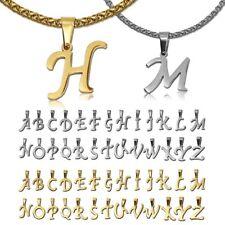 Buchstaben Kettenanhänger Edelstahl Mit Oder Ohne Halskette Alphabet Anhänger