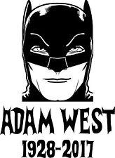 Adam West vinyl decal Batman RIP Family Guy DVD batmobile 66 gotham comic book