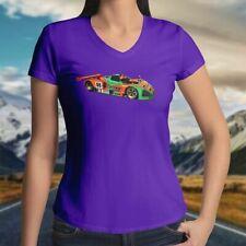 Mazda 787B 24Hour Le Mans Wankel Rotary Race Car Juniors Girl V-Neck Tee T-Shirt