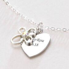 BAUTIZO Primera Sagrada Comunión Regalo Grabado Collar Corazón - Grabado Gratis