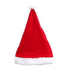 Gorro de Navidad Felpa / fieltro rojo con una amplia blancas borde y borla Suave