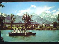Jackson Hole Wy Menor's Ferry Across the Snake River Postcard 1950s
