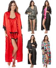 Ashford & Brooks Women's 3 Piece Satin Long Robe and Pajama Set