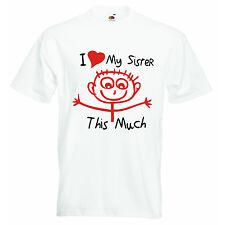 J'adore Ma Soeur This Much Personnalisé Bébé Garçons Filles T-shirt T-shirts