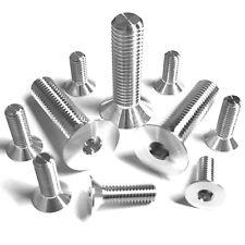 M5 7075 Aluminium Socket Countersunk Screws Allen Key Bolts Hex - Unanodised