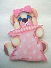 3D-U Pick-BE5 Sleeping Bear Pillow Journal CardStar Scrapbook Card Embellishment
