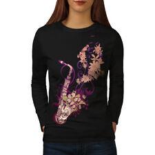 Saxophone Jazzy Tune Women Long Sleeve T-shirt NEW | Wellcoda