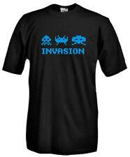 T-Shirt girocollo manica corta V39 Invasion vintage games Space Invaders