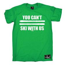 È possibile T sci con noi T-shirt Sci Da Sci Snowboard Tee Padri Giorno Regalo Top