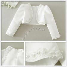 Flower Girl Bolero Shrug Short Cardigan Jacket Bridesmaid Formal Party Communion
