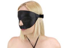 Blindfold Augenbinde Schlafmaske Maske Ledermaske Jute Leinen Leder Echtleder