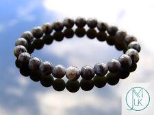 Black Labradorite Larvikite Natural Gemstone Bracelet 6-9'' Elasticated Healing