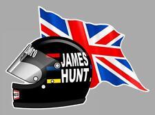 James HUNT FLAG/UK helmet left Sticker gauche