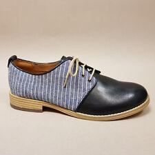 Clarks Zyris Toledo Navy Combi 261242654 Damenschuhe Schnürschuhe blau gestreift
