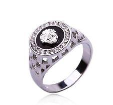 Bague chevaliere motif lion argent Diamant pour homme Mode Bijoux Modèle 35 278ff79f27cd