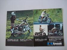 advertising Pubblicità 1974 KAWASAKI 900 Z1/500/400 S3