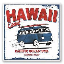 2 X Hawaii Camper Van pegatina de vinilo Ipad Laptop viajes 1983 Vw Volkswagen # 4311