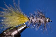 Fliegentom Streamer 3 pieces Wooleybugger with Beadhead Grizzly Krystal