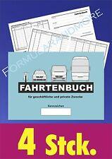 4 Stück FAHRTENBÜCHER, FAHRTENBUCH DIN A6, NEU, Fahrtenheft, Fahrtenbericht,
