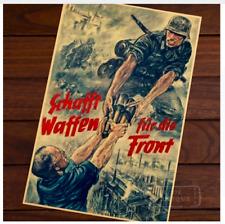 Wall Poster Hanging Picture Vintage Retro Propaganda WW2 Canvas World War German