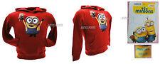 Felpa Minions Originale Rossa Minion Minions Bob Orsetto Tim Sweat Sweatshirt