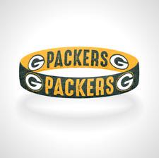 Reversible Green Bay Packers Bracelet Wristband Go Pack Go