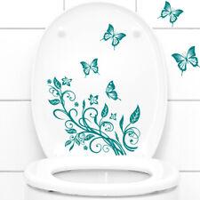 Wandtattoo Wandsticker Wandaufkleber Badezimmer WC Aufkleber Blumenranke W736
