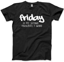 Venerdì 2nd Favourite F WORD-Divertente Hipster prestazione Unisex T-Shirt XS - 3XL