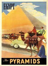 Camel Egypt Pyramids Cairo World Tourism Travel Vintage Poster Repro FREE S/H