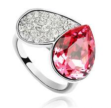 Anello Donna Cristallo Swarovski elements cuore 17# rosa N06