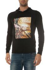 Felpa Armani Jeans AJ Sweatshirt Hoodie -35% Uomo Nero A6M70ZA-12