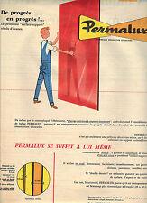 PUBLICITE ADVERTISING    1959   PERMALUX  contreplaqué