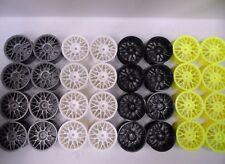 8 X Nuevo Touring Car Wheels 26mm Losi 10 mm Hex Grey/white/black / amarillo sobre carretera