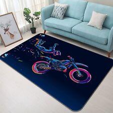 3D Motorrad 43 Rutschfest Teppich Matte Raum Matte Qualität Elegant Teppich DE