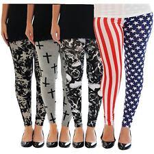 Dames Plus Taille Imprimé Haute Élastiqué Taille Extensible Fitness Legging40-54