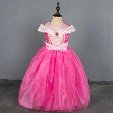 Sleeping Beauty Princess Aurora Costume Fancy Party Dresses Kids Size 4-10 FC057