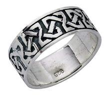 925 ECHT SILBER *** Ring Bandring keltisch Celtic Unendlichkeit Größenauswahl