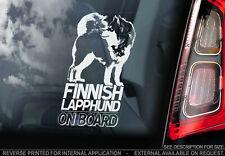 Finnish Lapphund - Car Window Sticker - Lapponian Dog Bumper Decal Husky - V01