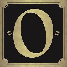 Casa & Cancello Numeri Sticker Autoadesivo – Oro su nero 8x8cm Quadrato Adesivi