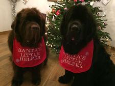 BIG DOG NEWFOUNDLAND ,ST BERNARD CHRISTMAS SLOBBER BIB PERSONALISED