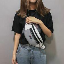 Neutral Outdoor Zipper Canvas Messenger Bag Sport Chest Bag Waist Bag Teenager