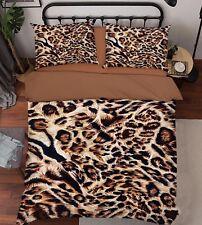 3D Leopard 424 Bett Kissenbezüge steppen Duvet Decken Set Single DE Carly