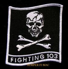 VF-103 JOLLY ROGERS SQUADRON PATCH F-14 TOMCAT US NAVY USS JFK SKULL NAS OCEANA