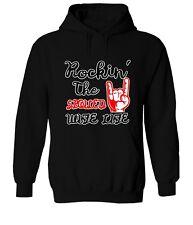Rockin' The Spoiled Wife Life Hooded Sweater Jacket Pullover Hoodie Sweatshirt