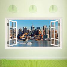 Nueva York Ventana Pared Adhesivo a todo color-Salón Cocina Pared Arte C382